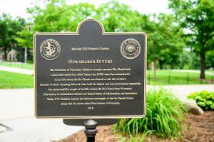 The marker on Bascom Hill