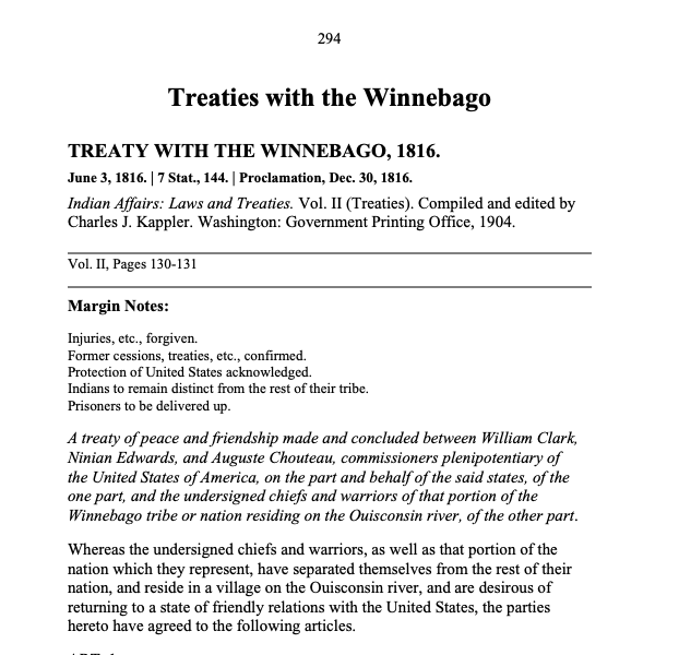page 1 of 1832 treaty